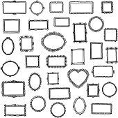 33 hand drawn doodle frames