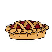 Hand drawn doodle pie icon