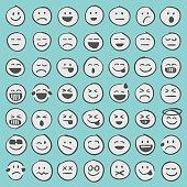 Hand drawn emoji icons set 1