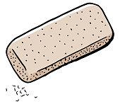 vector illustration hand drawn eraser