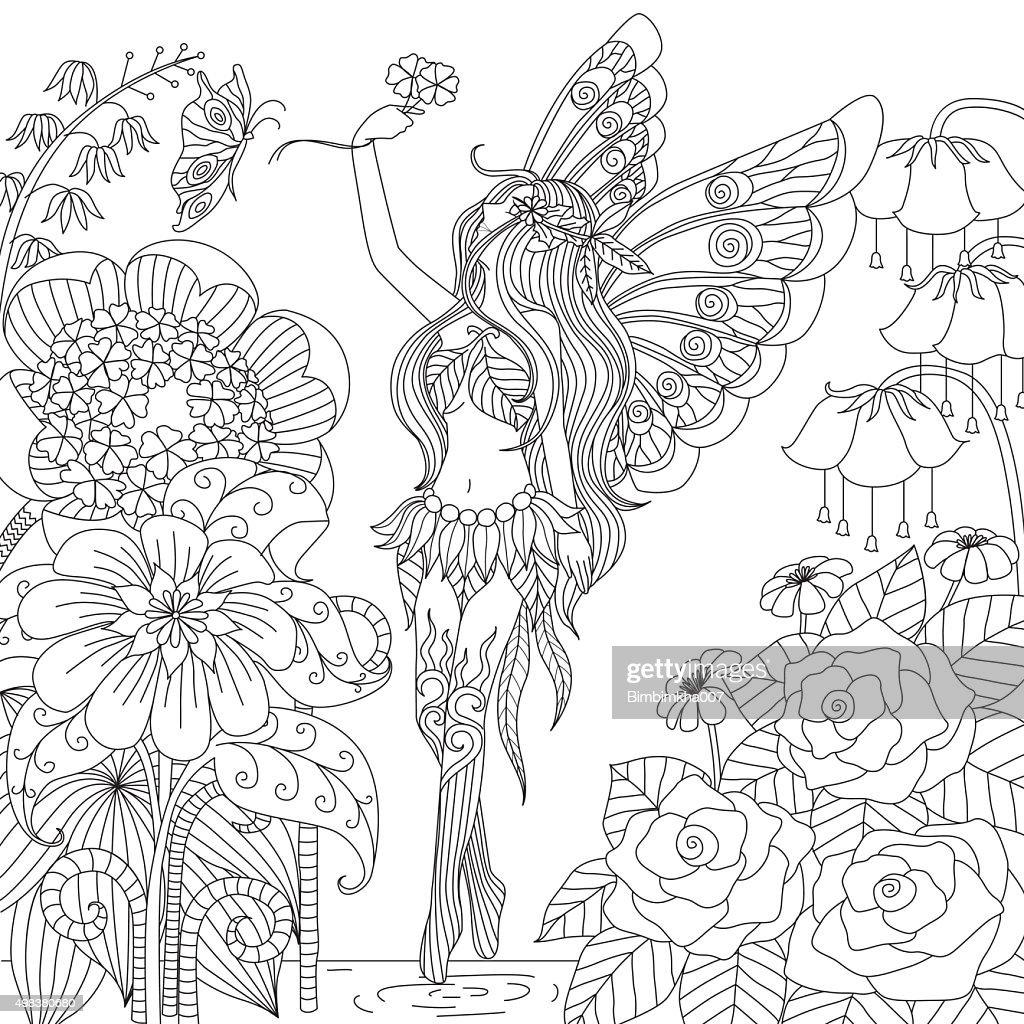 Hand drawn fairy
