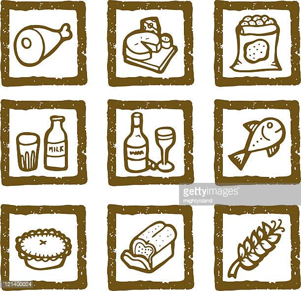 Hand drawn Essen icons