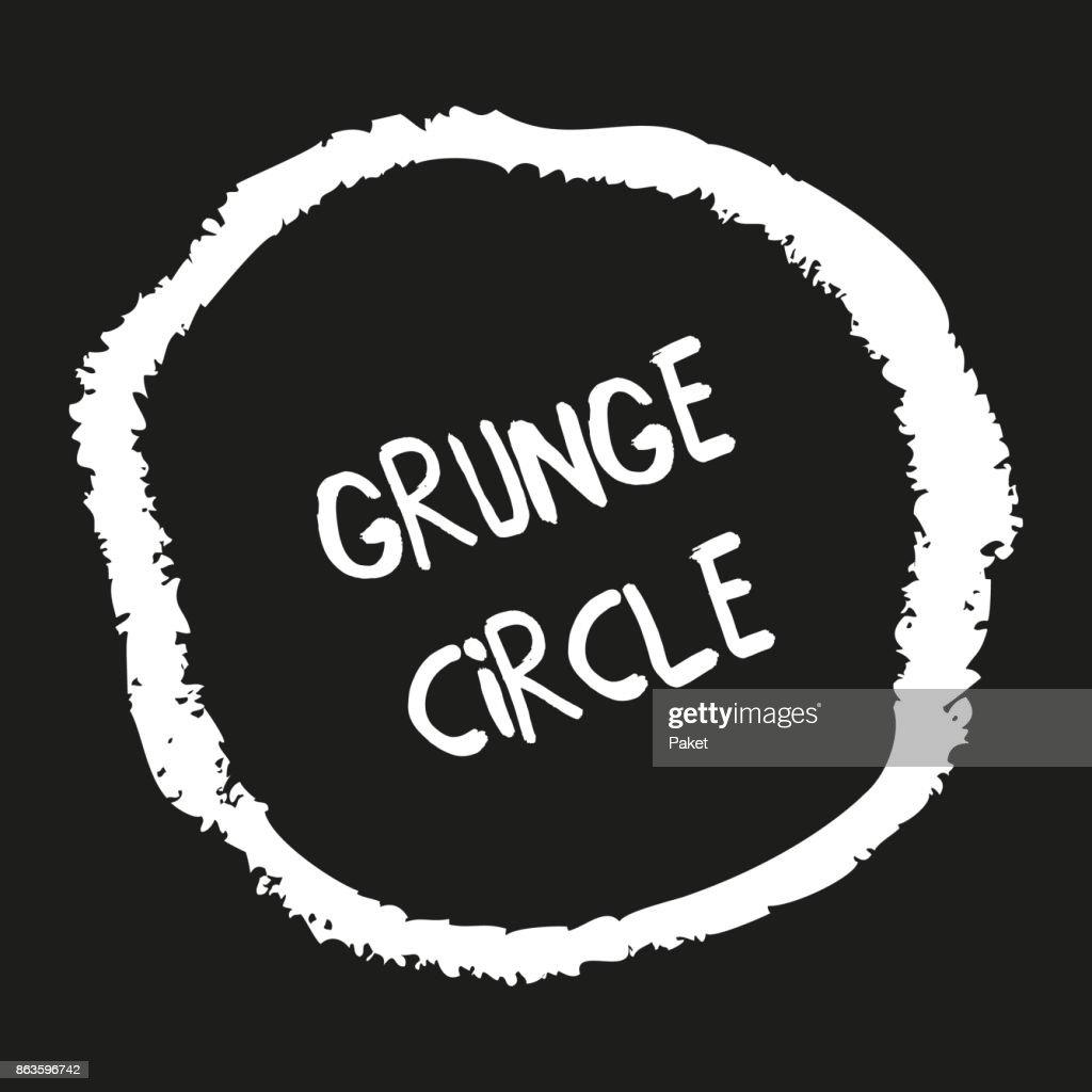 Hand drawn grunge crayon circle