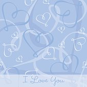 Hand Drawn heart textured card/background in vector format.