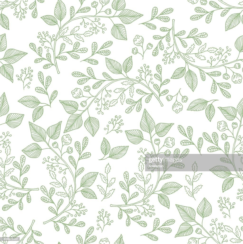 Hand drawn herb pattern