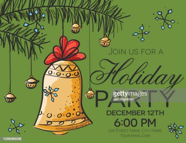 手描き下ろしクリスマス パーティー カード