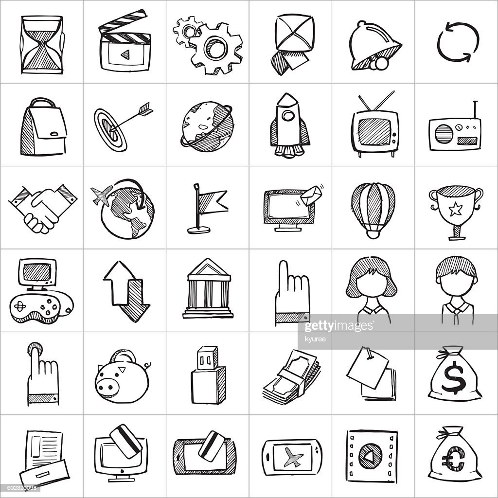 Hand drawn icons 004