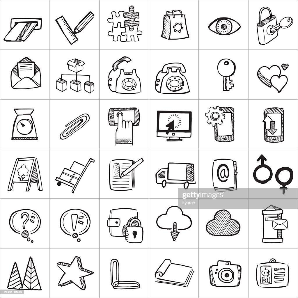 Hand drawn icons 005