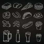 Hand drawn icons for Street Cafe