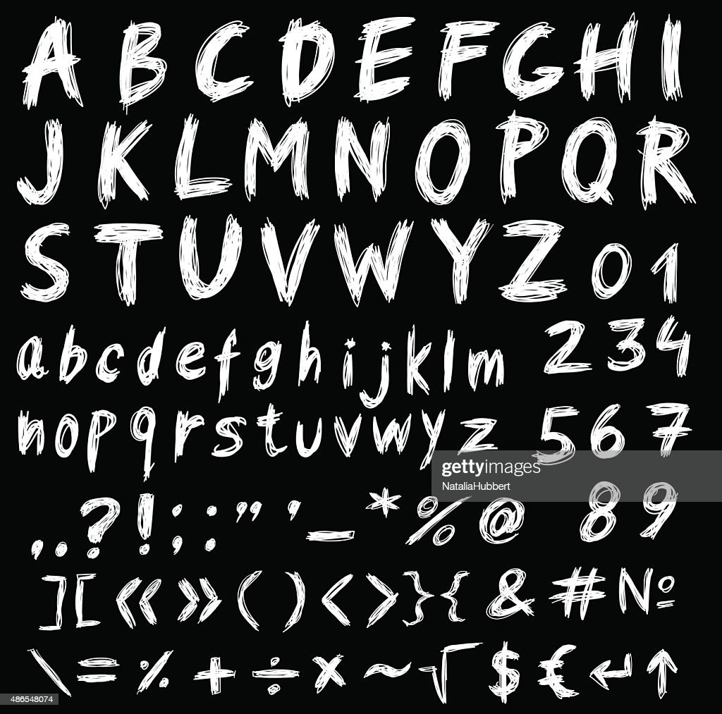 Hand drawn ink stylized font