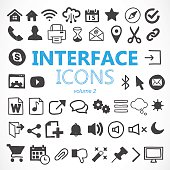 Hand drawn interface icons made in vector