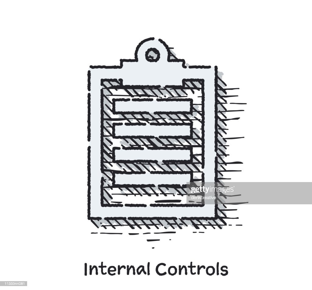 Hand Drawn Internal Controls Sketch Line Icon for Web : stock illustration