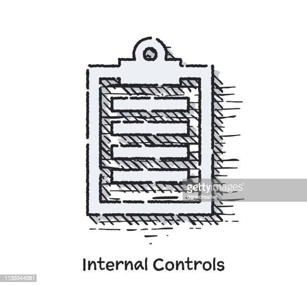 Hand Drawn Internal Controls Sketch Line Icon for Web