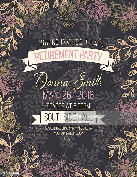 Hand Drawn Leaves Vines Frame Invitation Template