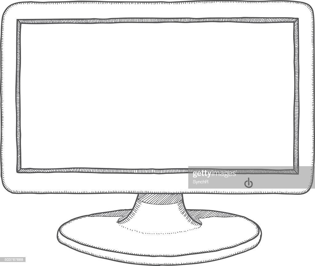 Hand drawn monitor