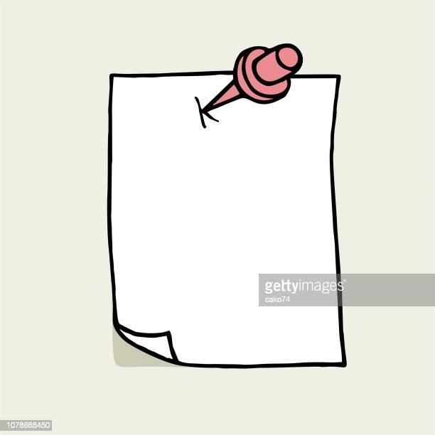 handgezeichnete briefpapier - schriftnachricht stock-grafiken, -clipart, -cartoons und -symbole