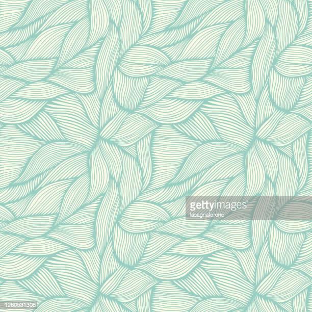 hand drawn organic intertwined seamless pattern - floral pattern stock illustrations