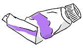 vector illustration hand drawn paint tube