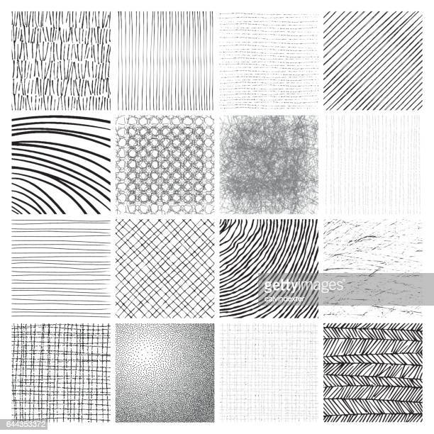 hand drawn patterns - stipple effect stock illustrations