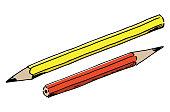 vector illustration hand drawn pencils
