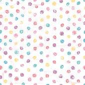 Hand drawn polka dot seamless pattern