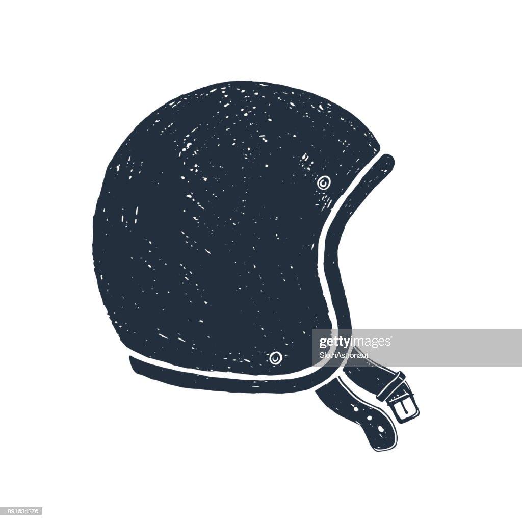 Hand drawn racing helmet vector illustration.