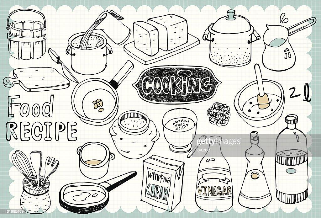 Hand drawn recipe set 01
