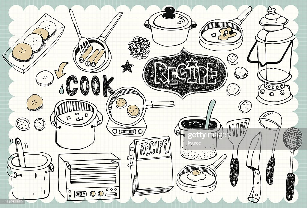 Hand drawn recipe set 04