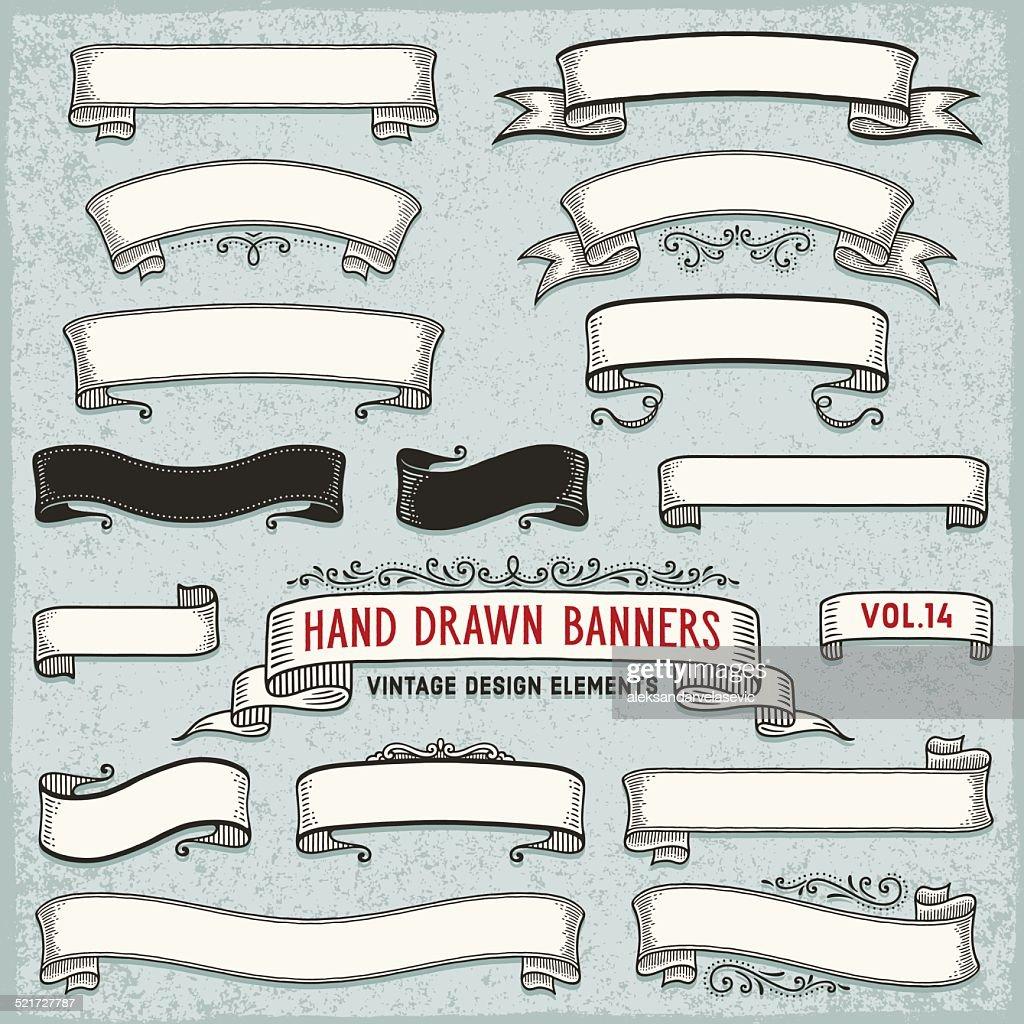 Hand Drawn Ribbon Banners