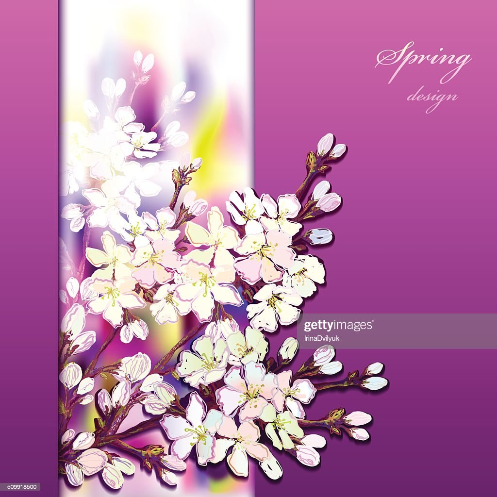 Hand drawn sakura design.