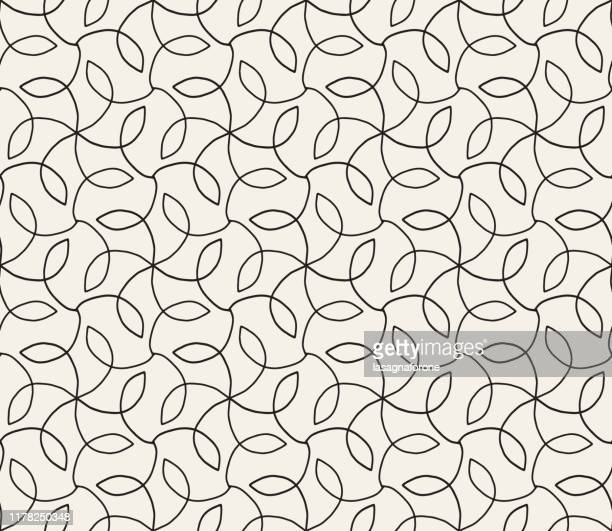 hand drawn seamless floral vector pattern - vine stock illustrations