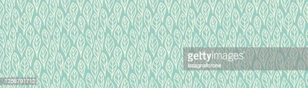 手描きシームレスリーフ/フェザーパターンベクトル - リーフ柄点のイラスト素材/クリップアート素材/マンガ素材/アイコン素材