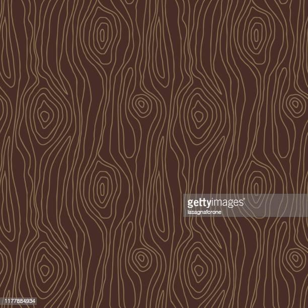 hand drawn seamless pattern - driftwood stock illustrations