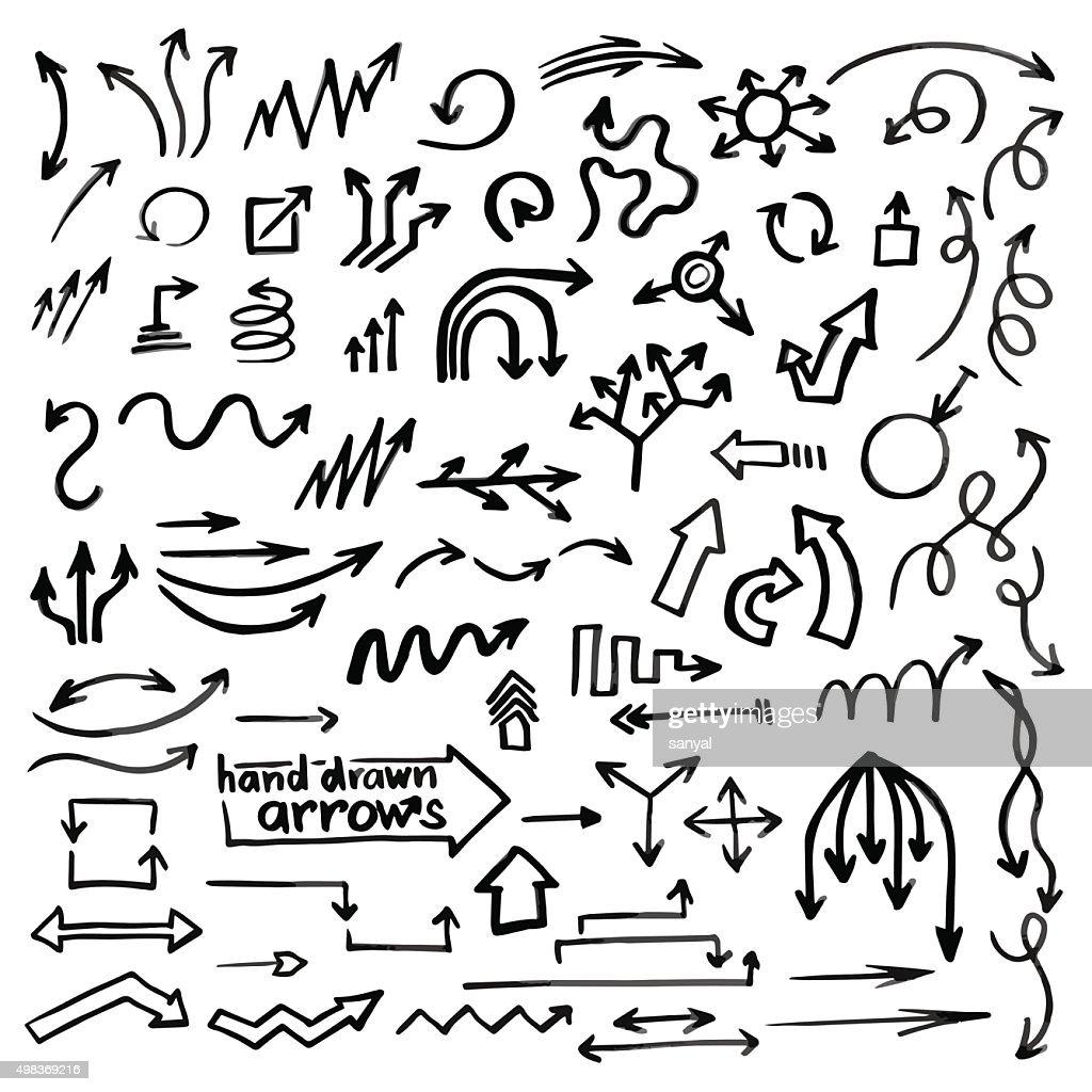 Hand drawn simple arrows
