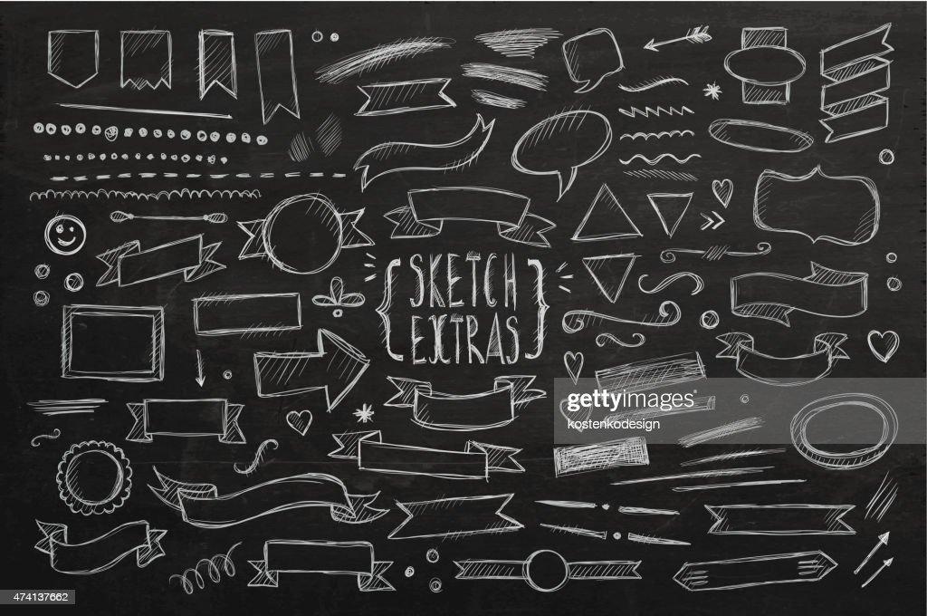 Hand drawn sketch elements