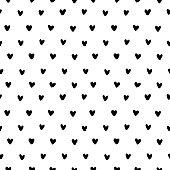 Hand drawn small hearts seamless pattern vector