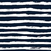 Hand drawn striped seamless pattern vector