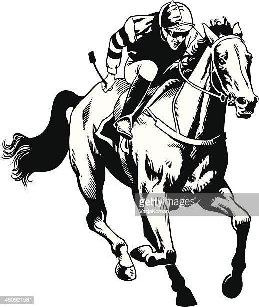 Mão desenhada Cavalo puro sangue