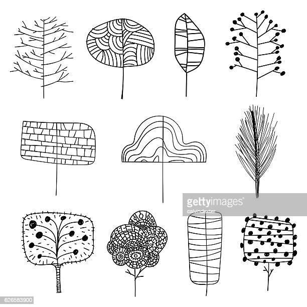 Hand drawn trees