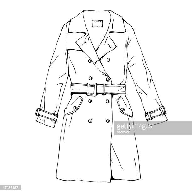 60 Top Trench Coat Stock Illustrations, Clip art, Cartoons