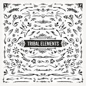 Hand Drawn Tribal Elements