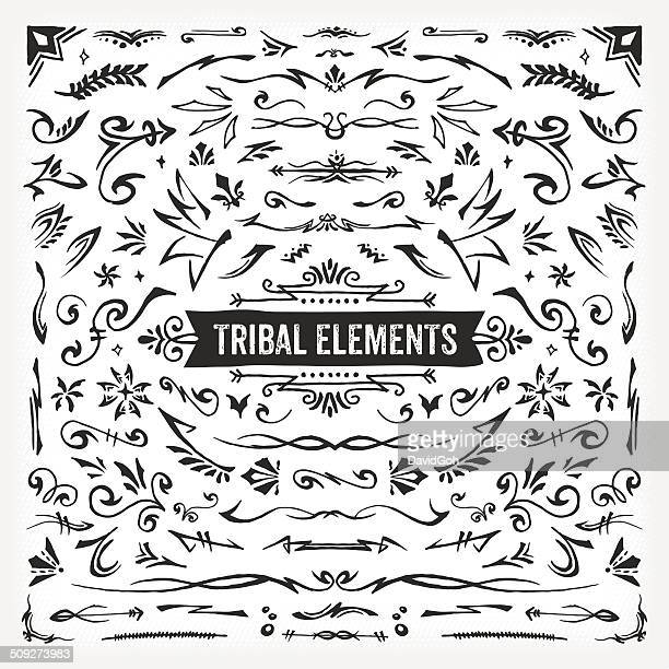 hand drawn tribal elements - spiked stock illustrations, clip art, cartoons, & icons
