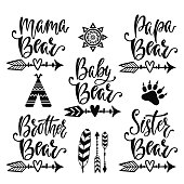Hand drawn typography vector phrases