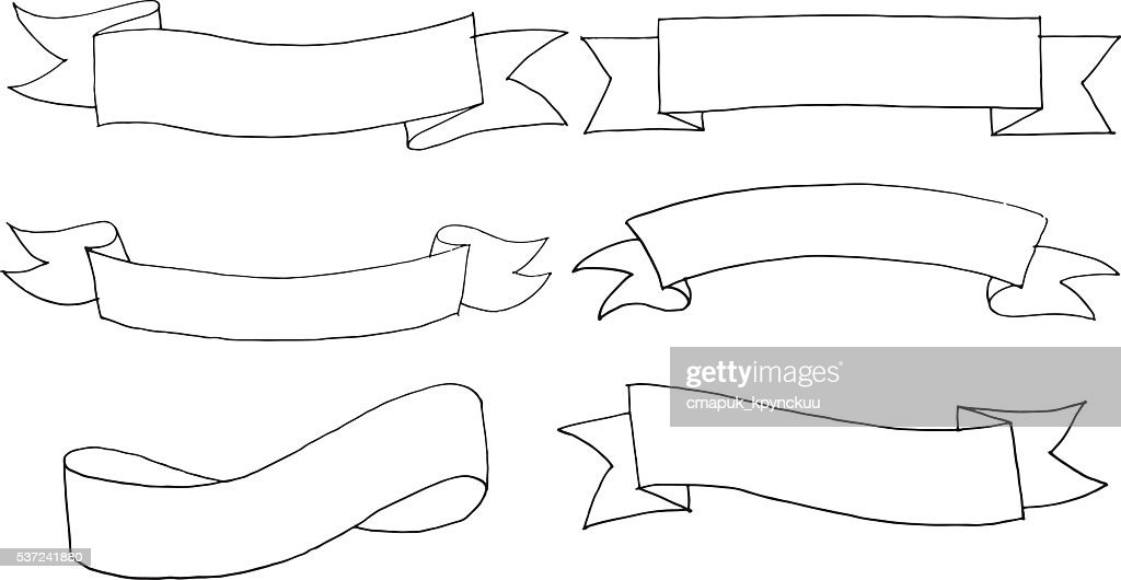 Hand drawn vector banners set
