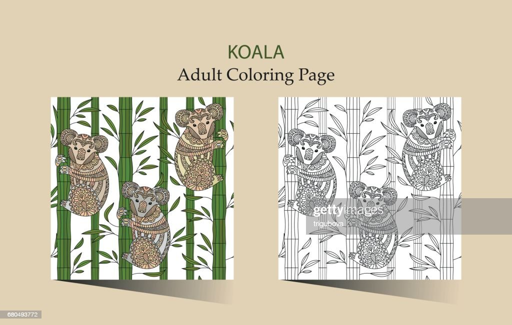 Hand Getekend Vector Pagina Kleurplaten Voor Volwassenen Met