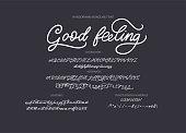 Hand drawn vector font.