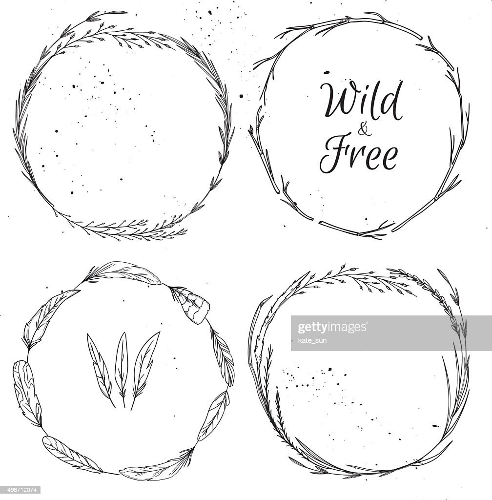 Hand drawn vector illustration.  Vintage decorative collection.