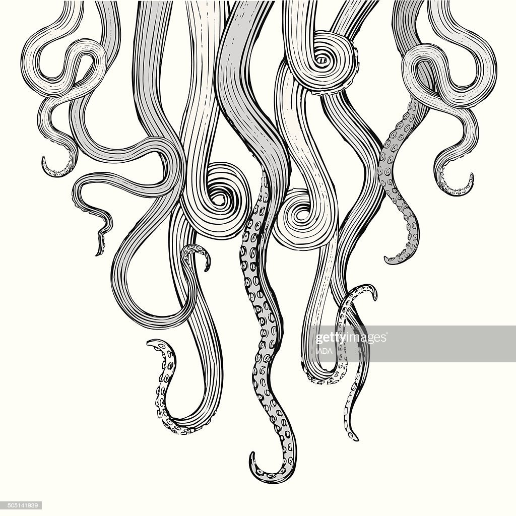 Hand Drawn Vector Tentacles