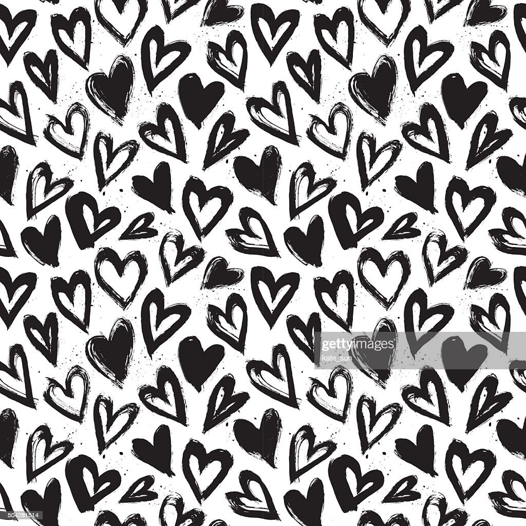 Hand drawn vector vintage texture. Seamless abstract pattern