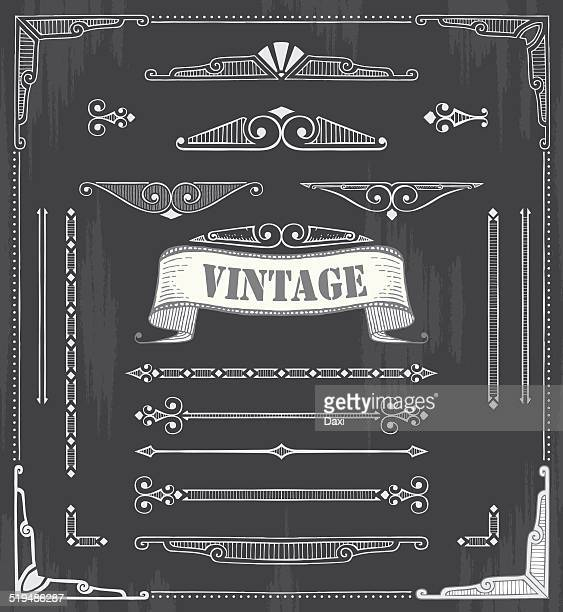 hand drawn vintage - construction frame stock illustrations